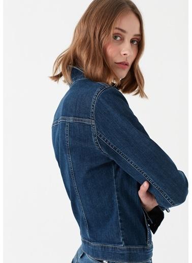 Mavi Jean Ceket | Daisy - Yarı Dar Kalıp İndigo